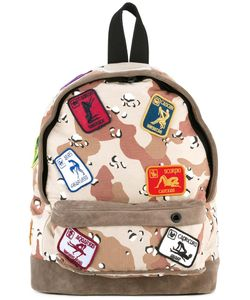 PALM ANGELS | Camouflage Backpack Cotton/Suede