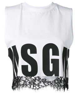 MSGM | Lace Trim Crop Top Size Small