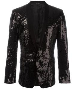 Dolce & Gabbana | Sequinned Blazer 48 Silk/Polyester/Virgin Wool/Spandex/Elastane