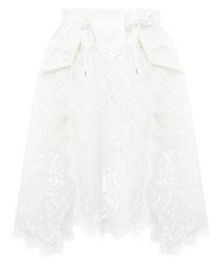 Sacai   Lace Overlay Skirt Size 1
