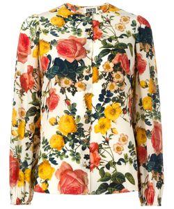 Fausto Puglisi | Flower Print Collarless Shirt 40 Silk