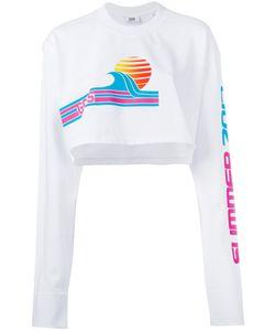 Gcds | Beach Print Crop Top