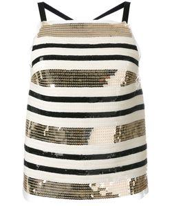Aviù | Striped Sequined Top 42