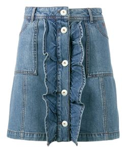 Ganni   Mini Denim Skirt 36 Cotton