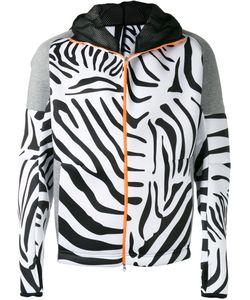 adidas x Kolor | Adidas By Kolor Zebra Print Zip Hoodie Small