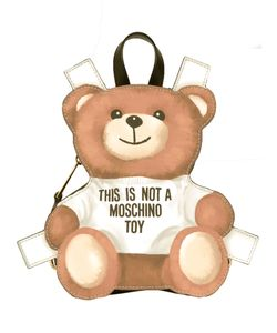 Moschino | Mini Toy Bear Paper Cut Out Backpack Calf Leather