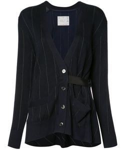 Sacai   Pinstriped Cardigan Size