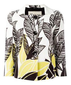 Herno | Leaf Print Jacket 40 Cotton/Spandex/Elastane/Polyester/Acetate