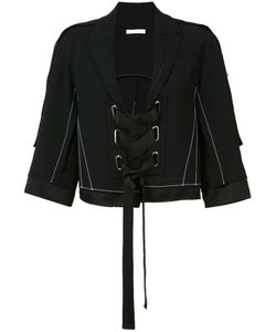 Victor Alfaro | Lace-Up Cropped Jacket Size 2