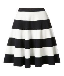 Akris Punto | Striped Full Skirt 40 Viscose/Polyester