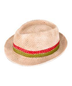 LE CHAPEAU   Striped Panel Hat