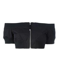 Diesel Black Gold | Off-Shoulder Cropped Jacket 42 Cotton/Polyamide