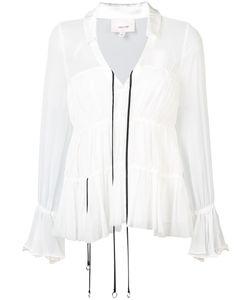 Cinq A Sept | Расклешенная Блузка С V-Образным Вырезом