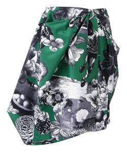 MSGM | Asymmetric Printed Skirt Size 42