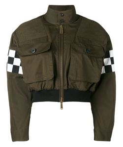 Dsquared2 | Checkboard Cropped Bomber Jacket