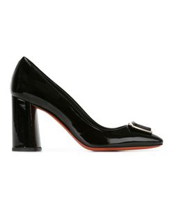 Baldinini | Chunky Heel Pumps 39 Patent Leather/Leather