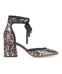 Marc Jacobs | Elle Ankle Strap Pumps 38.5 Sequin/Leather