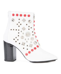 Toga | Studded Ankle Boots 39 Lamb Skin/Patent Leather/Metal