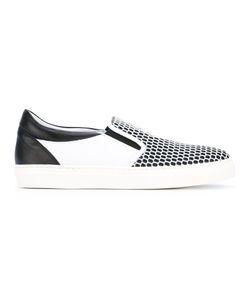 Roberto Cavalli   Geometric Slip-On Sneakers