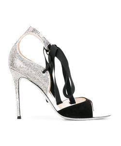 Rene' Caovilla | René Caovilla Studded Trim Sandals 36.5 Suede/Pvc/Cotton/Rubber