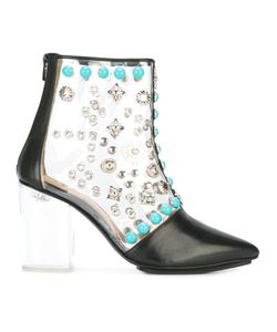 Toga Pulla | Clear Vinyl Ankle Boots Size 37 Calf