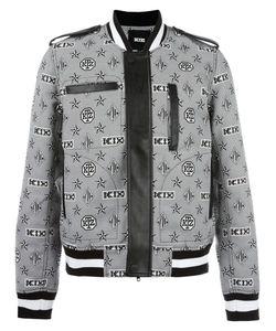 Ktz | Monogram Print Bomber Jacket Small Polyester