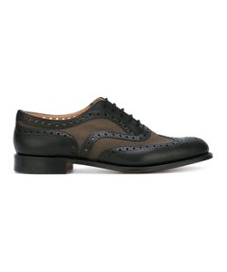Church'S | Panelled Brogues 10 Calf Leather/Leather/Cotton