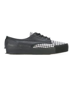 Alexander Wang | Houndstooth Panel Sneakers 41 Leather/Rubber
