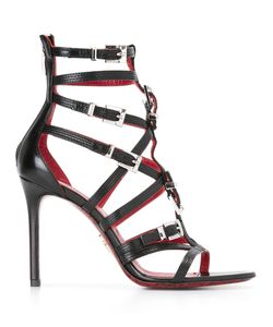 Cesare Paciotti | Strappy Stiletto Sandals 37 Calf Leather/Leather