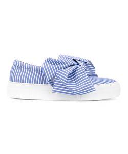 Joshua Sanders | Striped Bow Sneakers