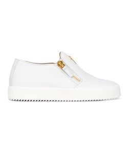 Giuseppe Zanotti Design | Eve Slip-On Sneakers 36 Leather/Rubber/Metal