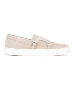 Eleventy   Strappy Slip-On Sneakers 44 Suede/Leather/Other Fibers/Rubber