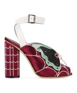 Marco De Vincenzo | Butterfly Web Ankle Strap Sandals