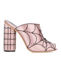 Marco De Vincenzo | Spider Web Mules Leather/Silk