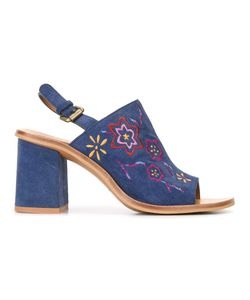 See By Chloe | See By Chloé Embroide Sandals 37.5 Calf Suede/Leather/Rubber