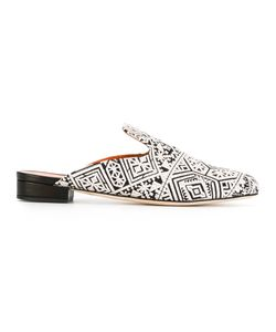BAMS | Printed Mules 38 Leather/Cotton/Viscose