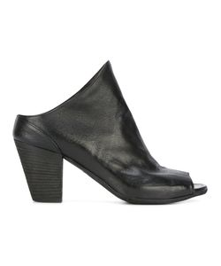 Officine Creative | Heeled Peep-Toe Mules 36 Calf Leather/Leather