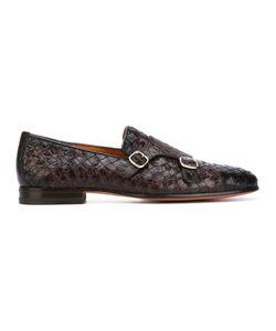 Santoni   Woven Monk Shoes
