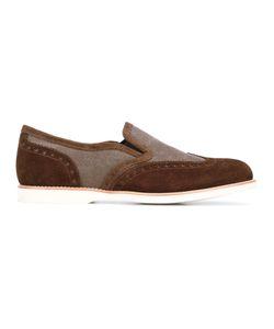 Santoni   Contrast Loafers 7.5