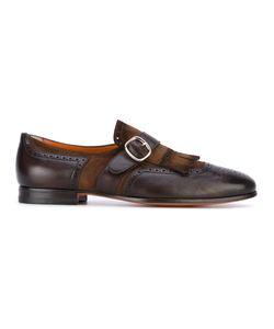 Santoni   Fringed Monk Shoes 8.5