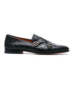 Santoni | Embossed Monk Shoes Size 8.5
