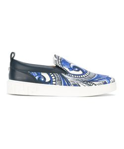 Versace   Painted Baroque Slip-On Sneakers Size 44