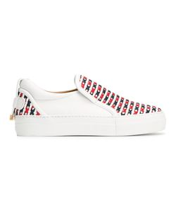 Buscemi | Crossed Slip-On Trainers 39 Calf Leather/Rubber/Leather