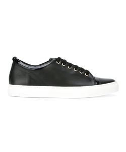 Lanvin | Lace-Up Sneakers 41 Leather/Patent Leather/Rubber