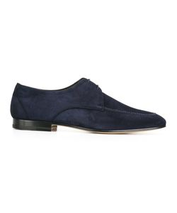 Fratelli Rossetti | Square-Toe Brogues 7.5 Suede/Leather/Cotton