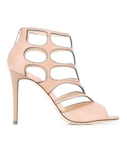 Jimmy Choo | Ren 100 Sandals 37 Calf Leather/Leather
