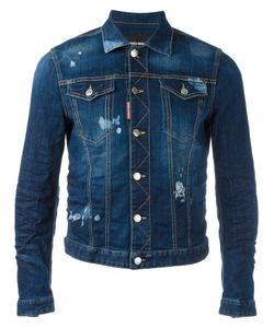 Dsquared2 | Stonewashed Distressed Denim Jacket 54 Cotton/Spandex/Elastane