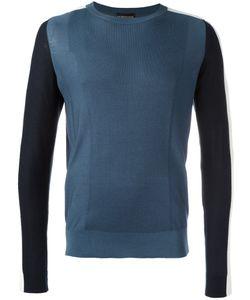 Emporio Armani   Contrast Jumper Large Cotton/Silk