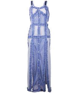 ATTICO   Long Frayed Trim Dress