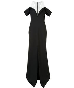 Mugler | Front Slit Bicolour Gown 38 Viscose/Polyester